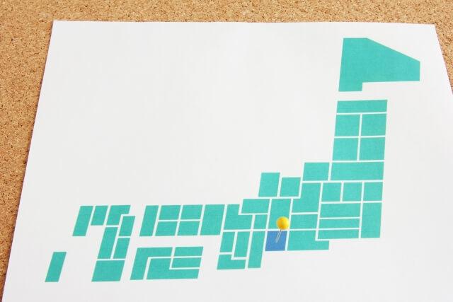 日本地図の中の愛知県