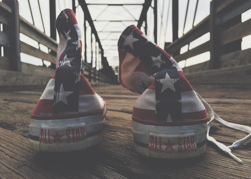 アメリカ柄のオールスター