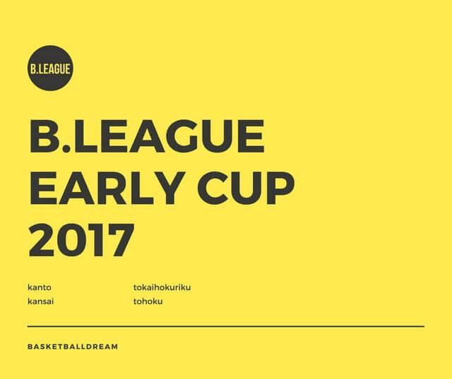 Bリーグアーリーカップ2017 関東、関西、東海北陸、東北