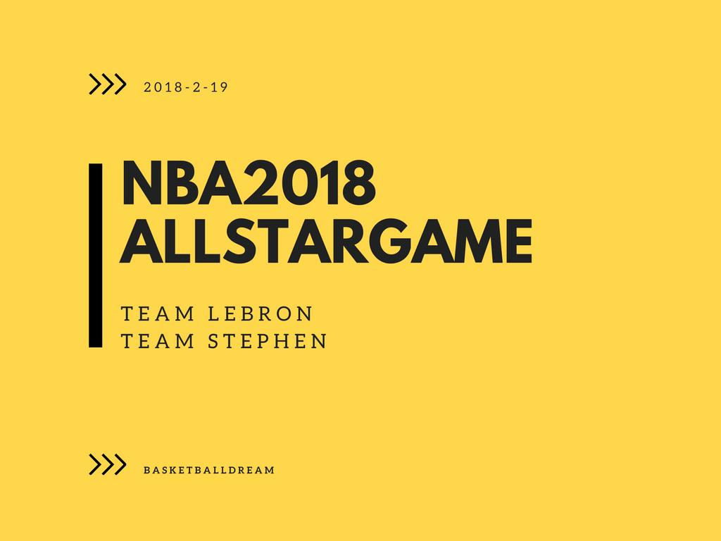 NBA2018オールスターゲーム チームステファン-チームレブロン